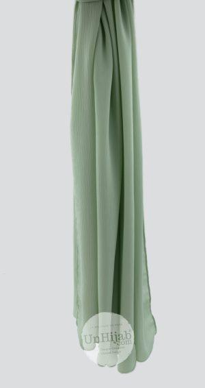 Hijab Mousseline Froissé lichen