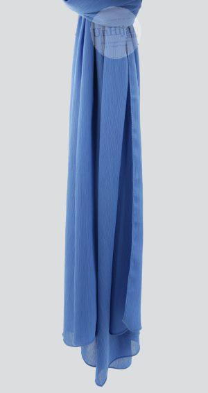 Hijab mousseline froissé Bleu